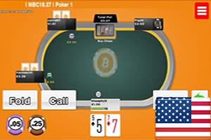 mBit bitcoin poker
