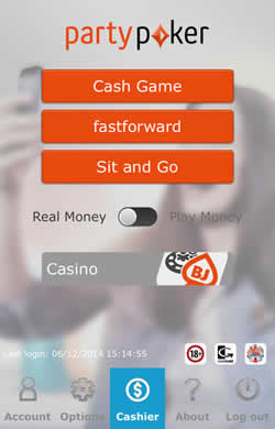PartyPoker Mobile for iOS and Android