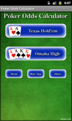 Mobile Poker Calculators for Android Tablets and Phones  - Android