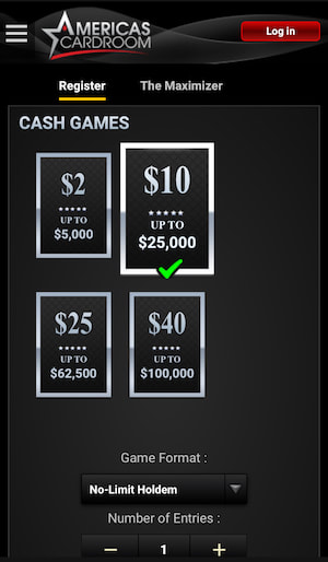 Americas Cardroom Jackpot Mobile